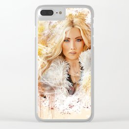 Blonde Beauty Clear iPhone Case