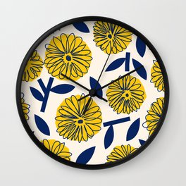 Floral_blossom Wall Clock