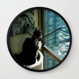 Surveying Her Realm (Gracie Queen of Chicago Collection) Wall Clock