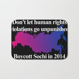 Boycott Sochi - Bisexual Flag Gradient Bath Mat