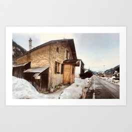At home \\ Chamonix France Art Print