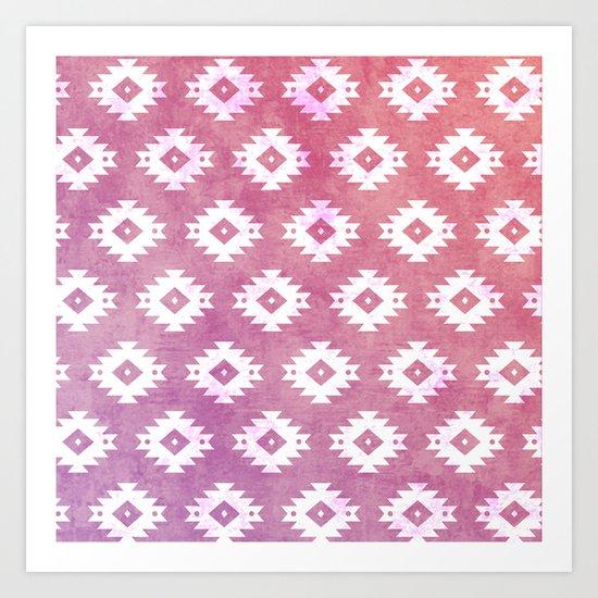 Aztec Pattern 10 Art Print