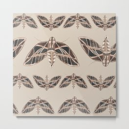 Watercolor Moths  Metal Print