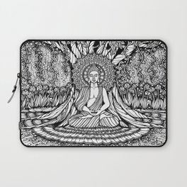 A Starry Night of Buddha Meditation-Hand-drawn-Kent Chua Laptop Sleeve