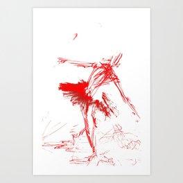 Russian Ballerina (in laser lighting) Art Print