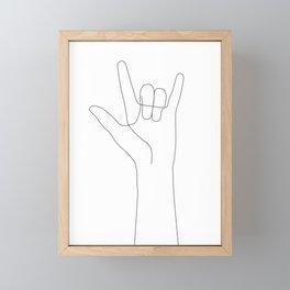 Love Hand Gesture Framed Mini Art Print