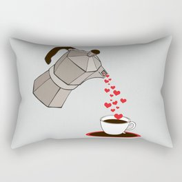 Kitchen Living Room Interior Wall Home Decor with Cuban Coffee Maker pouring Hearts Rectangular Pillow