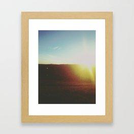 Earth's Sunset Framed Art Print