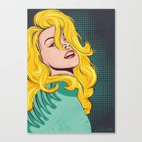 popart Canvas Prints featuring Blond popart by Kate