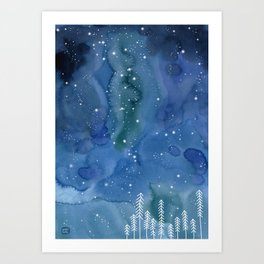 A night in Norway Art Print