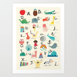 Animal Alphabet Kunstdrucke