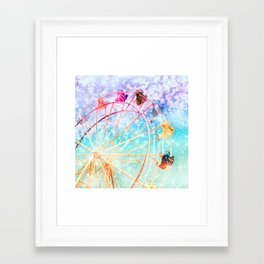 Galaxy Wheel Framed Art Print