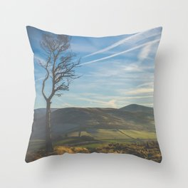 Windswept Scottish Landscape Throw Pillow