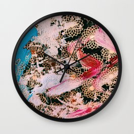 Sparrow Abstract Painting Wall Clock