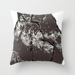 He's a bear in a bad mood Throw Pillow