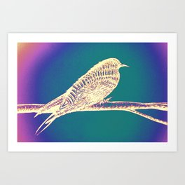 Bird Aura Art Print