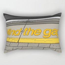Mind the Gap in London Rectangular Pillow