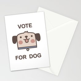 Vote For Dog Stationery Cards