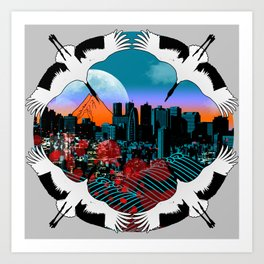 Flight To Shinjuku Art Print