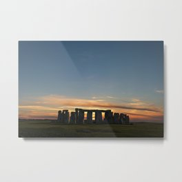 Stonehenge winter solstice Metal Print
