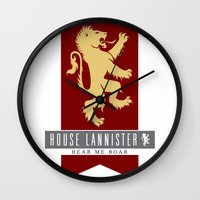 lannister Wall Clocks featuring House Lannister Sigil by P3RF3KT