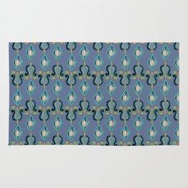 Colorfull Ikat Blue Rug