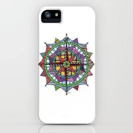 Compass Rose Mandala iPhone Case