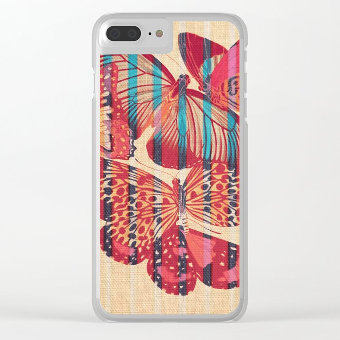 Butterflies in Strips Clear iPhone Case