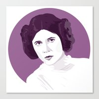 princess leia Canvas Prints featuring Leia by zaiure