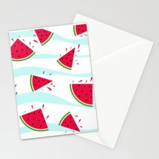 Watermelon pattern . Retro . Stationery Cards