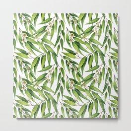 Exotic greenery pattern Metal Print