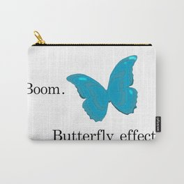 Butterfly Effect (Blue) Carry-All Pouch