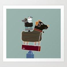 the little dog  Art Print