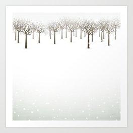 Winter Forest by Friztin Art Print