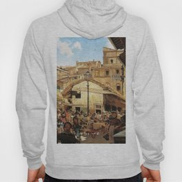 Mercato Vecchio A Firenze 1882 By Telemaco Signorini   Reproduction   Italian Painter Hoody