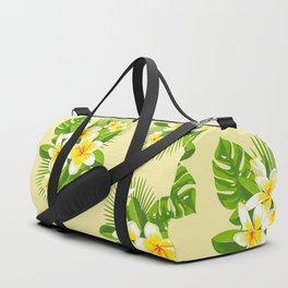 Tropical Bouquet. Plumeria Duffle Bag