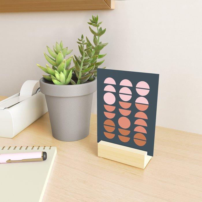 Modern Desert Color Shapes Mini Art Print
