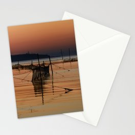 Fishing Nets in the Water Stationery Cards