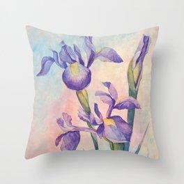 Angel Iris - Joyful Throw Pillow
