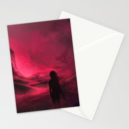 Pink plains Stationery Cards