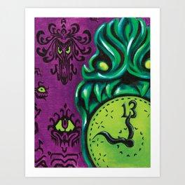 """Disneyland Haunted Mansion inspired """"Wall-To-Wall Creeps No.3""""  Art Print"""