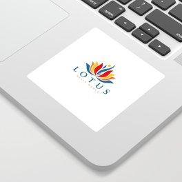 Lotus Warm Shirt Logo Sticker
