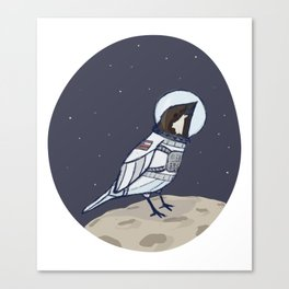 Space Sparrow Canvas Print