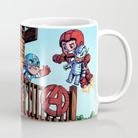 avenger Mugs featuring The Avenger Tykes by J Skipper