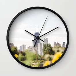 Chicago in August Wall Clock