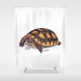 Red Footed Tortoise Shower Curtain