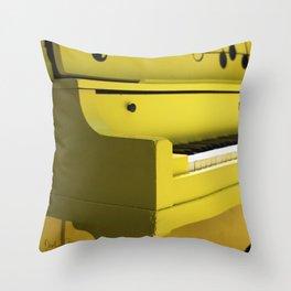 Mellow Yellow Etude Throw Pillow