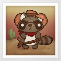 Alex the Prankish Raccoon Art Print