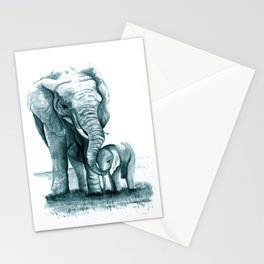 My Little Peanut (Elephants) Stationery Cards