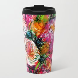 pink bouquet with two white buttercups Travel Mug